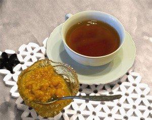 чай с морошкой