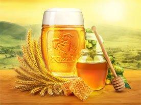 пиво с медом