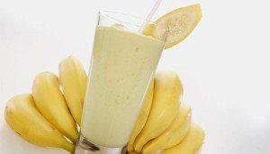 банан с молоком при кашле