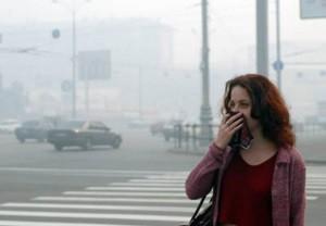 грязный воздух и кашель