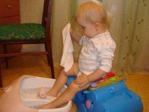 горчичная ванночка для детей