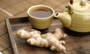 чай с медом и имбирем