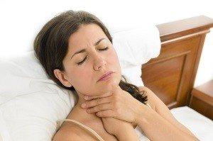 горловой кашель и перешение